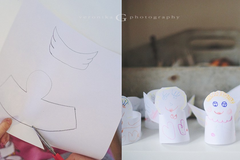 DIY paper Christmas angels by Veronika G Photography