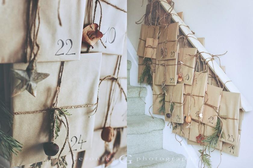 Homemade Advent Calendar by Veronika G Photography
