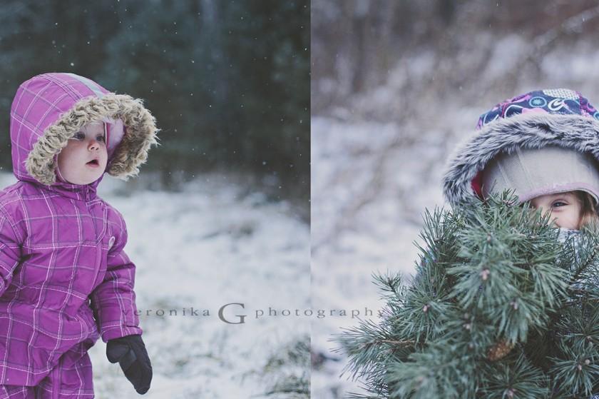 choosing a Christmas tree photo by Veronika G Photography