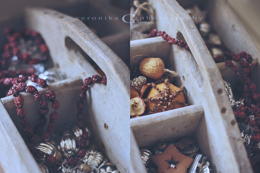 dried fruit Christmas garland and ornaments by Veronika G Photography