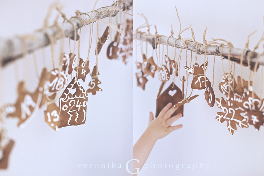 gingerbread advent calendar by Veronika G Photography