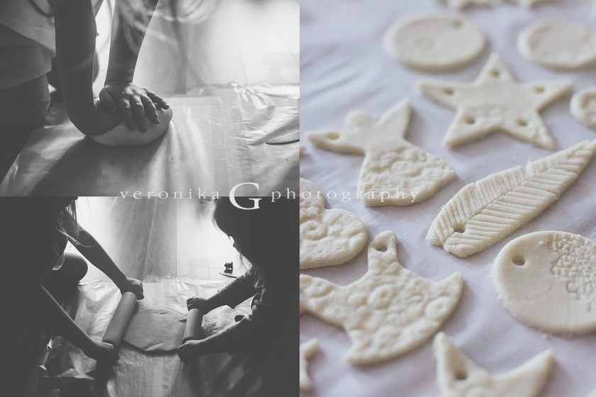 homemade salt dough ornaments pictures by Veronika G Photography