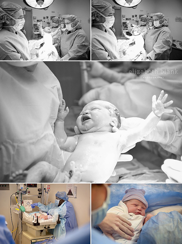 newborn baby in OR by Elizabeth Blank