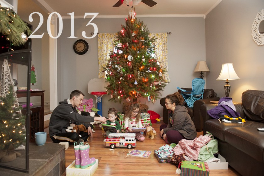photographing Christmas morning with a tripod interval timer and speedlight