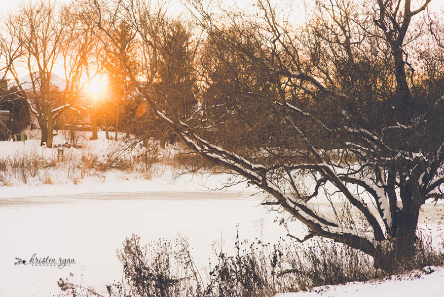 winter sunset by Kristen Ryan
