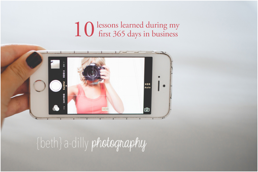 10 lessons learned during my first 365 days in business