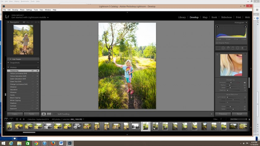 A before and after clean edit in Lightroom by Carly Bingham
