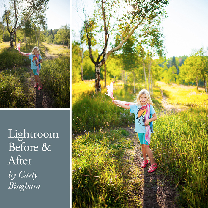 Lightroom before and after clean edit by Carly Bingham