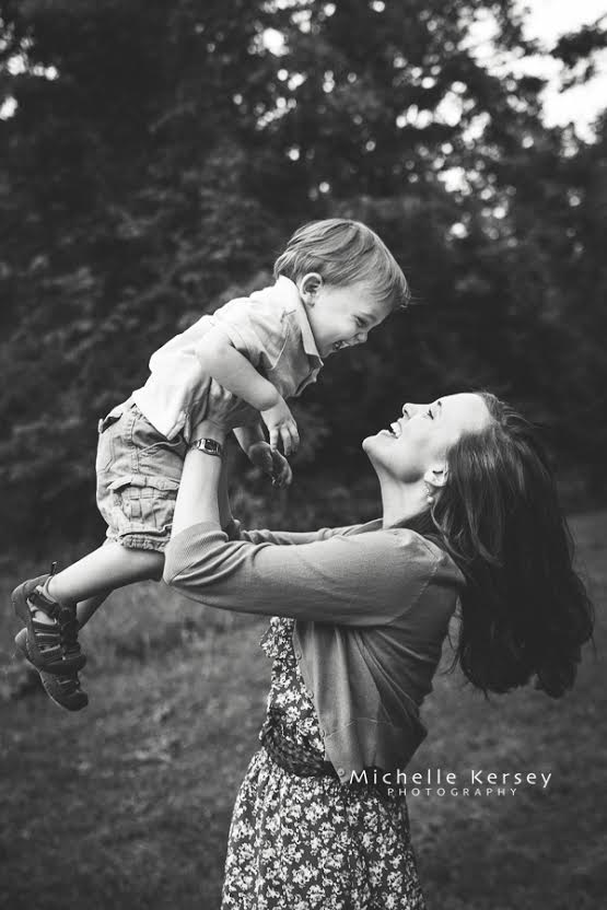 happy photo of mother and son by Michelle Kersey