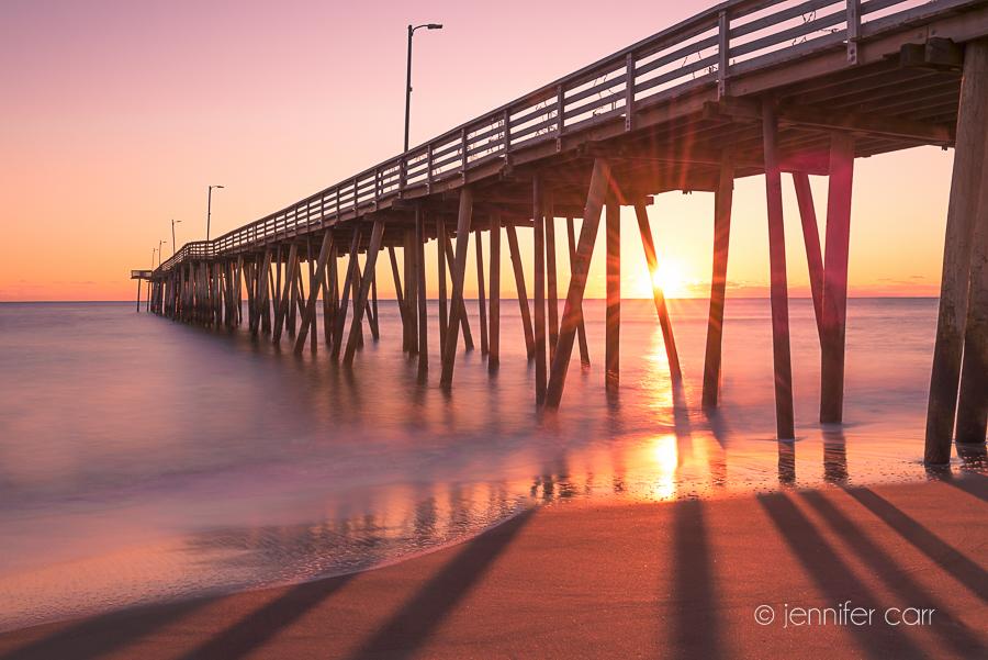 Virginia Beach Pier at Sunrise © Jennifer Carr Photography