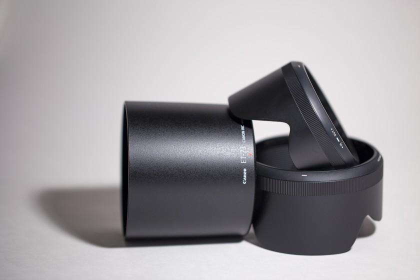 Canon lens hoods by Nina Mingioni
