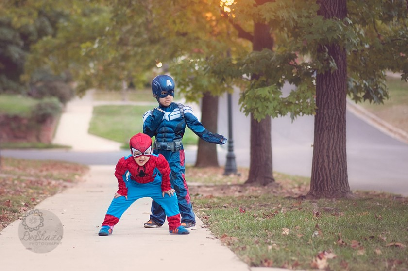 Captain America and Spiderman costumes by Megan DeShazo