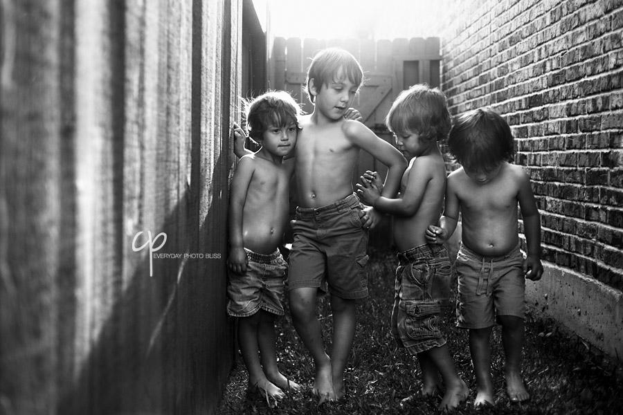 backlit photo 4 brothers by Celeste Pavlik