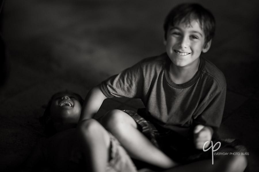 brothers laughing togethe by Celeste Pavlik