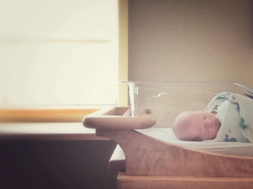 iPhone photo of newborn in hospital by Kellie Bieser
