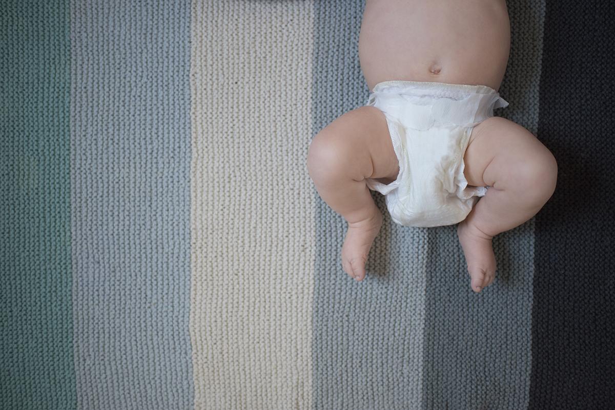 photo of baby legs and handmade blanket by Kellie Bieser