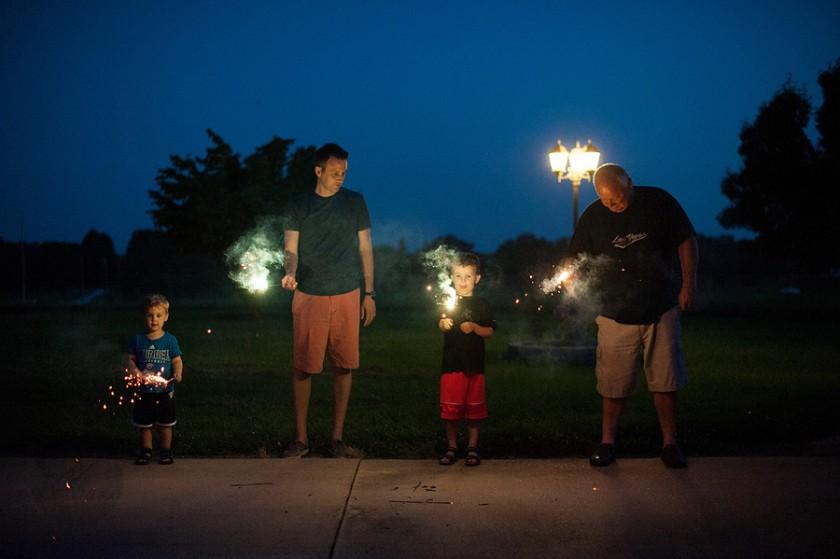 sparklers by Megan DeShazo