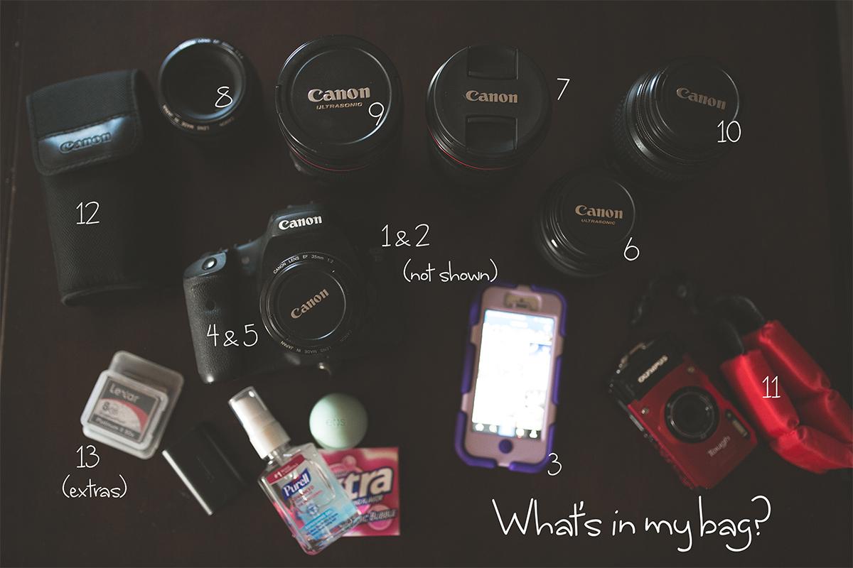 Canon camera and lenses of photographer Liz Behm