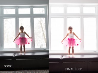 before and after edit in ACR and Photoshop by Marissa Gifford
