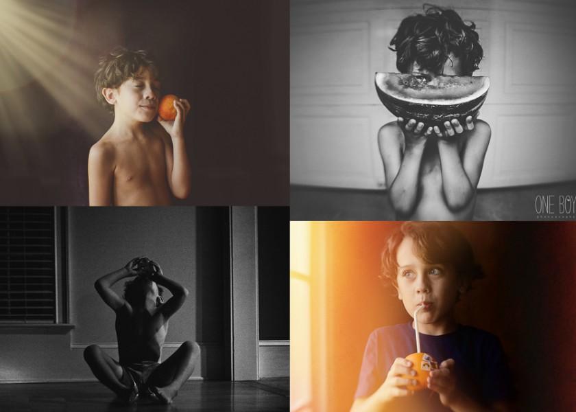 boy who loves fruite by Jan Tyler