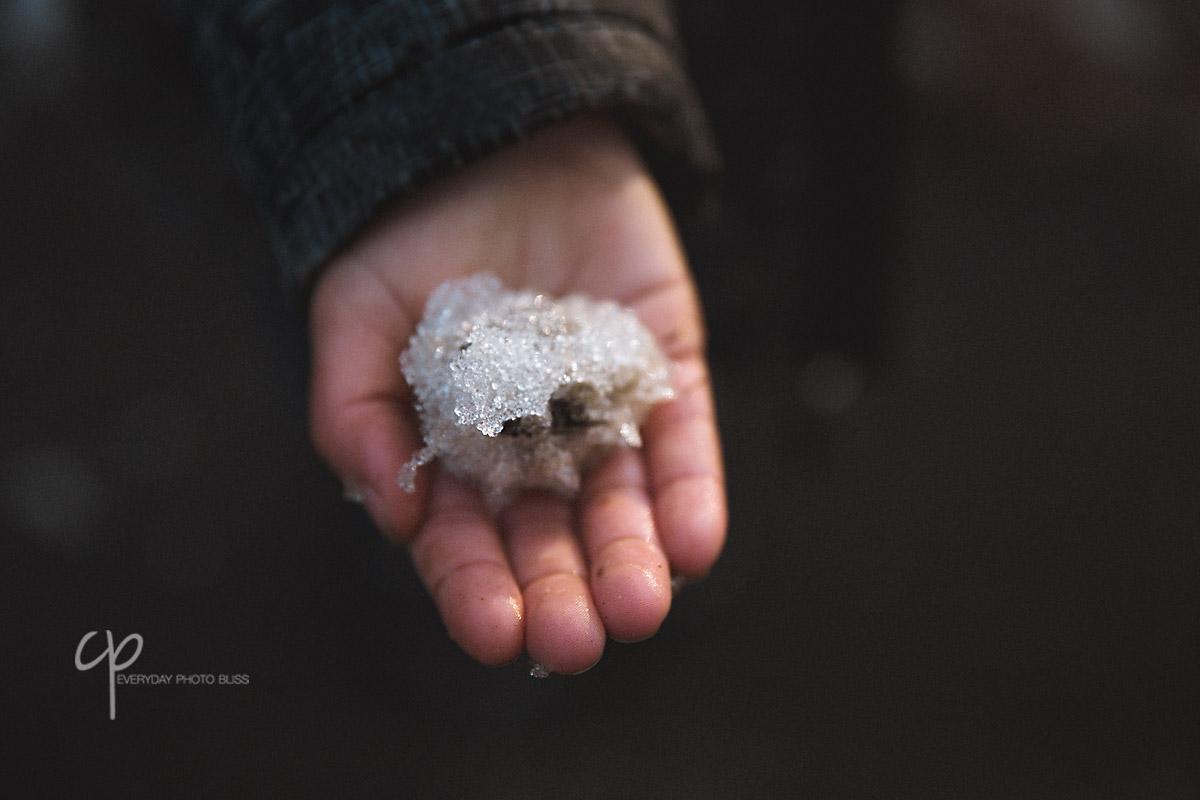 boys hand holding ice by Celeste Pavlik