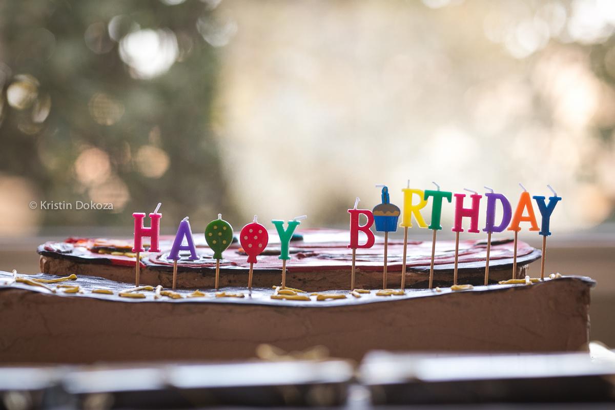 happy birthday candles by Kristin Dokoza