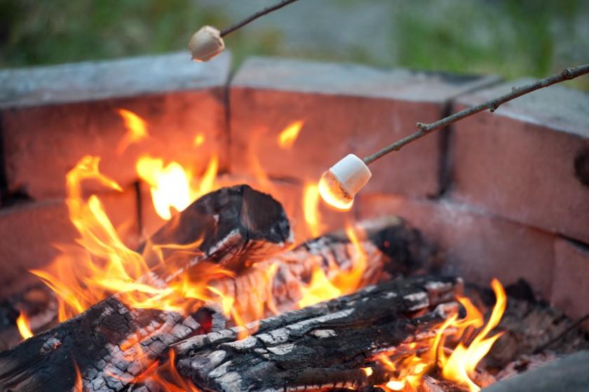 marshmallows over a fire by Chloe Ramirez