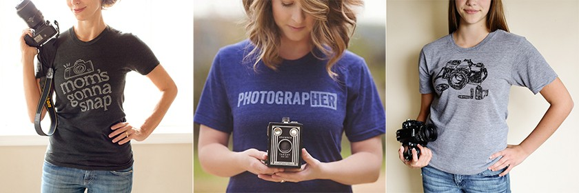 photographer t-shirts from the CM store