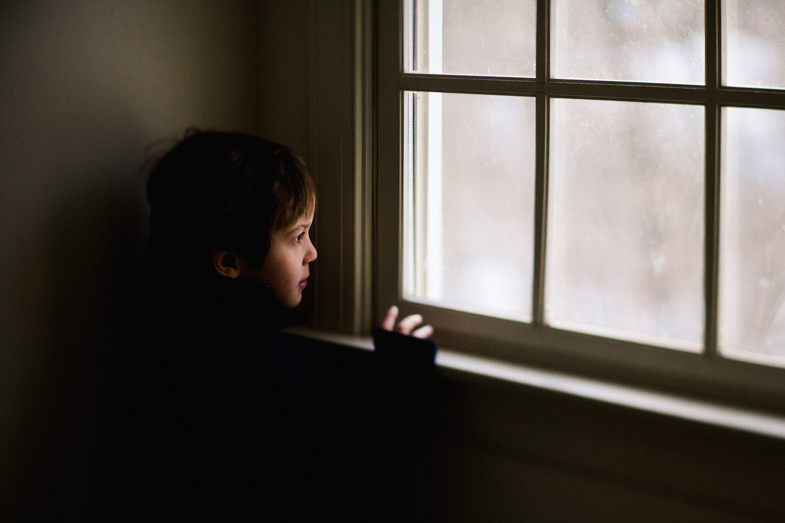 pic of boy looking out a window by Celeste Pavlik
