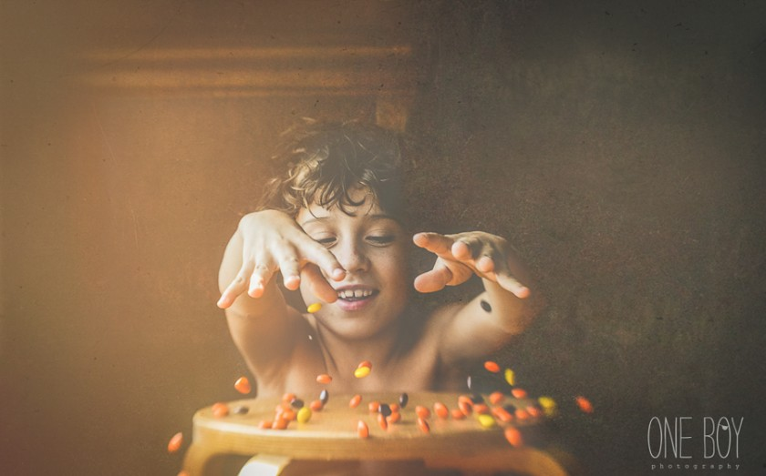 picture of kid throwing candy by Jan Tyler