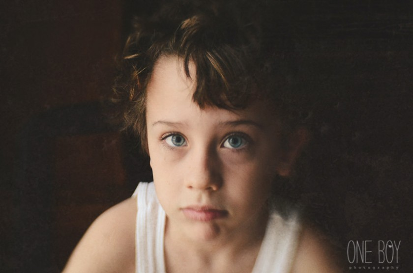 portrait of boy with a Lensbaby lens by Jan Tyler