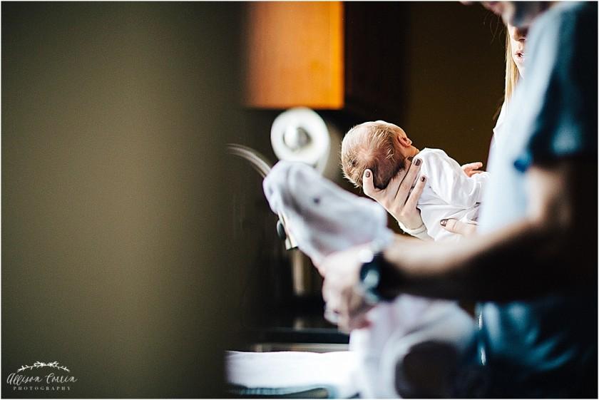 baby bath photo by Allison Corrin