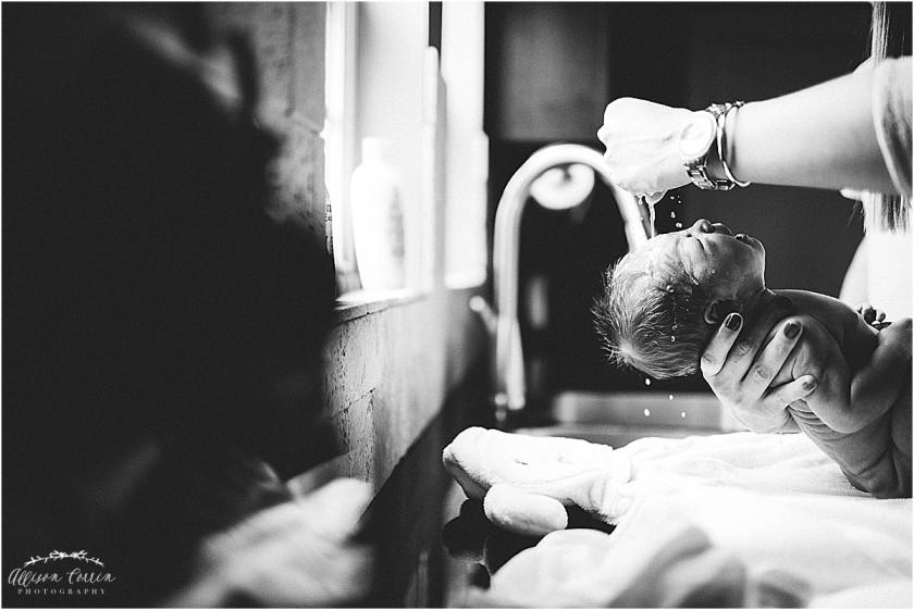 baby sink bath by Allison Corrin