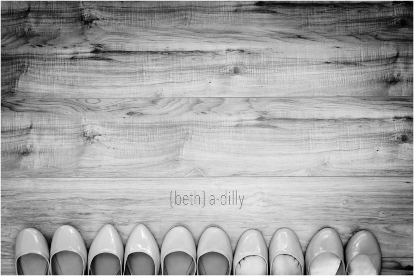 black and white photo of shoes by Beth Deschamp of Bethadilly Photography