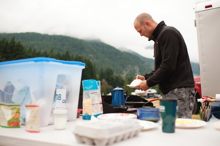 eating at a camp site by Lacey Meyers