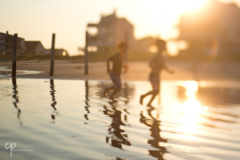 kids running in the water by Celeste Pavlik