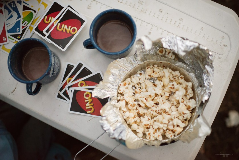 popcorn and uno by Lacey Meyers