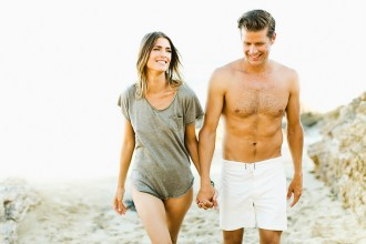 couple photo on the beach by Ben Sasso
