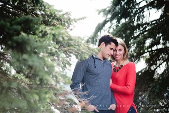 couple surrounded by trees by Jenna Stoller of Patch 36 Photography 7