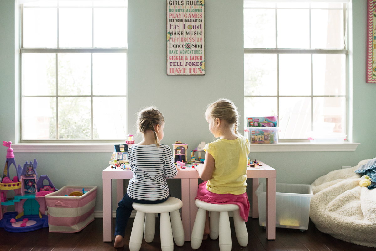 sisters playing by Sarah Carlson