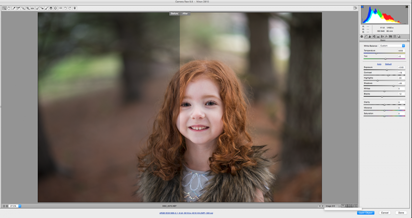 ACR edit of photo with no reflector by Winnie Bruce