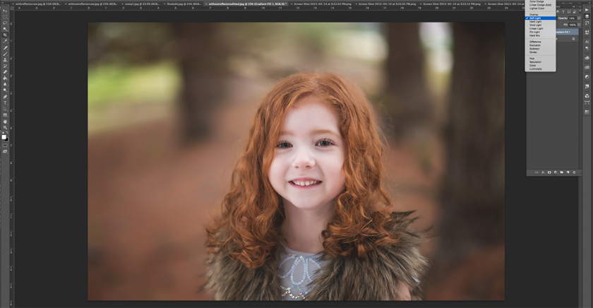 after the gradient filter in Photoshop by Winnie Bruce