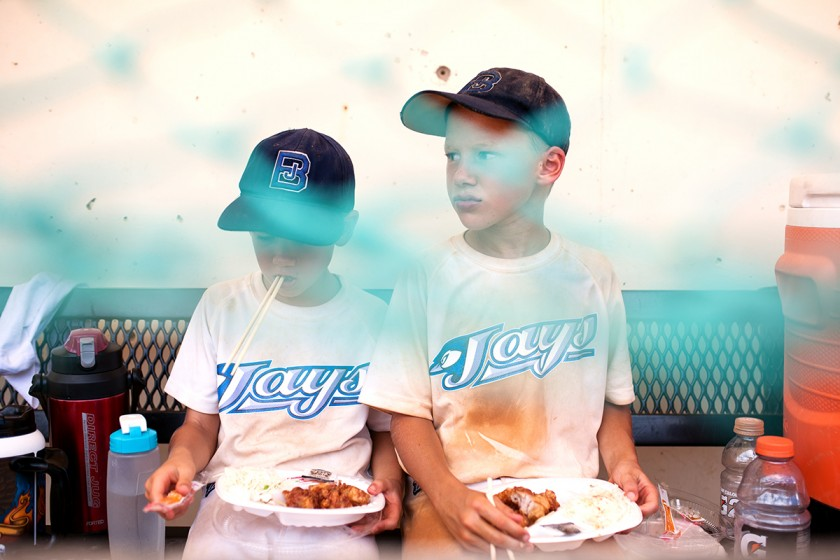boys eating lunch by Meredith Novario