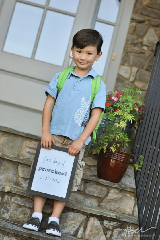 first day of school picture by Ann Becker