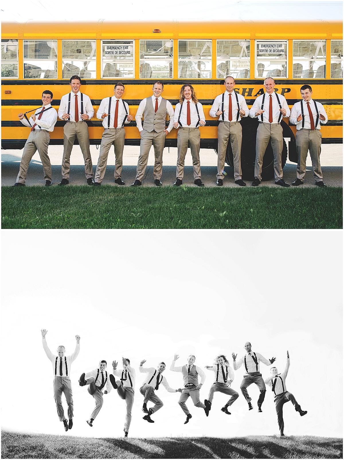 fun groomsmen photos by Bobbi-Jo Stuart of Love Bee Photography
