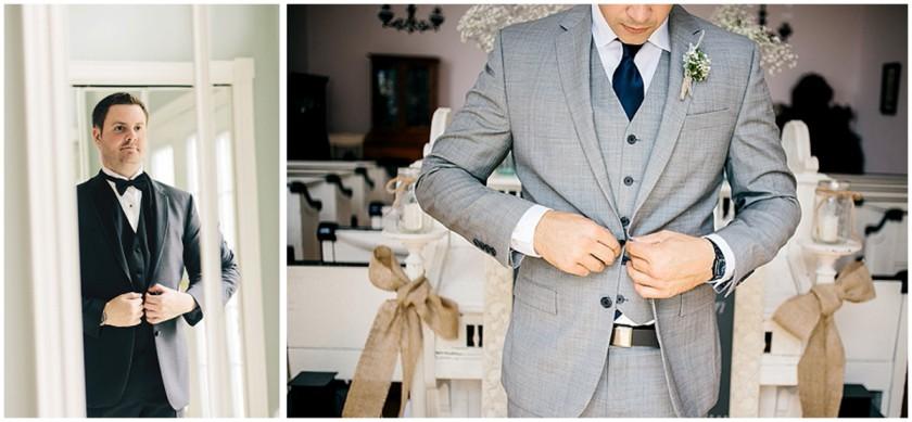 groom getting dressed by Bobbi-Jo Stuart of Love Bee Photography