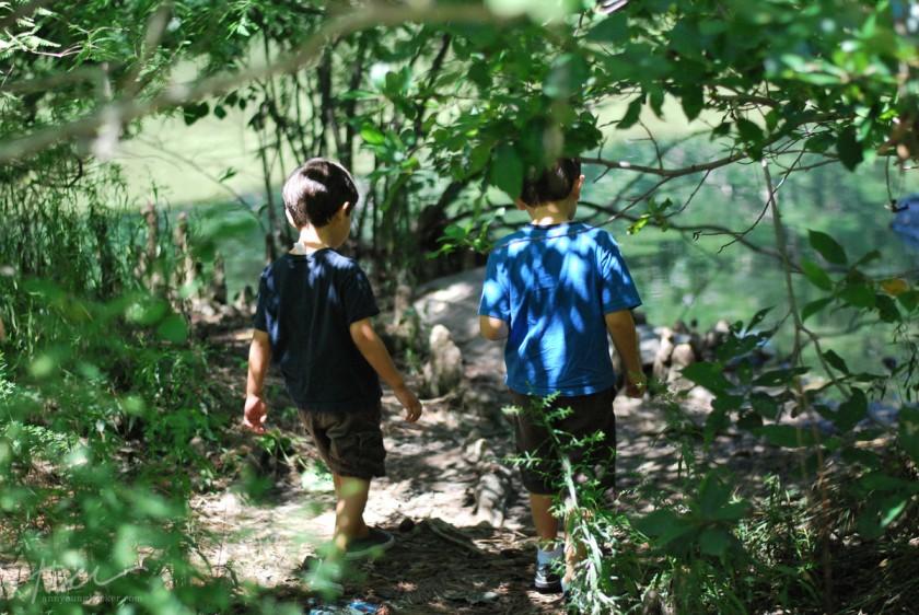 kids walking by Ann Becker