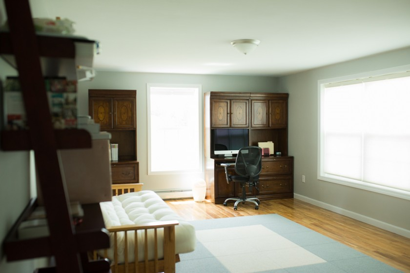 office area of photographer Kristy Dooley