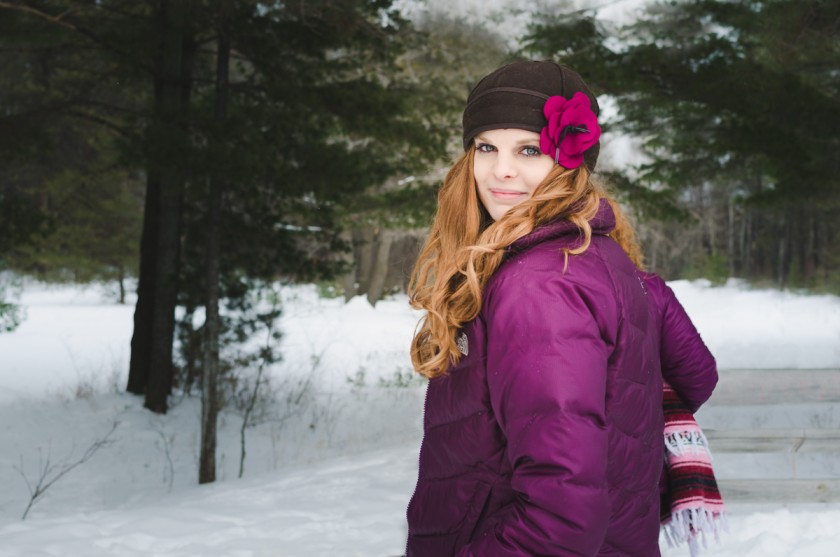outdoor photo of a woman in the snow by Amy Brownridge