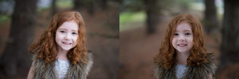 photo comparison with and without a reflector by Winnie Bruce